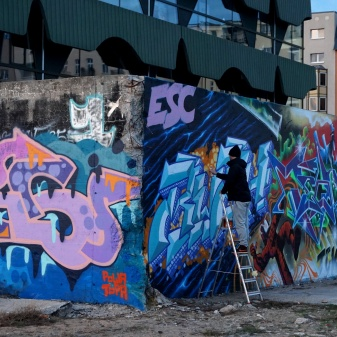 doing street art2